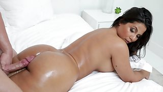 Rose Monroe enjoys every sex pose with her boyfriend on the bed