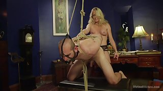 Blonde Simone Sonay gets her pussy licked and pounded by her lover