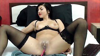 beauty russian girl having fun with lovense toy