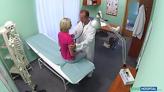 Blonde slut Claudi Macc wanted to be fucked by her handsome doctor