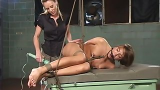 Exclusive lesbian BDSM femdom for the young amateur babe