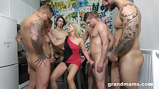 Dirty still on fire mature cowgirl is into wild and hardcore gang bang