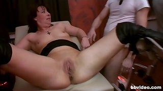 Slutty wife and her best friend get fucked by a lot of dudes
