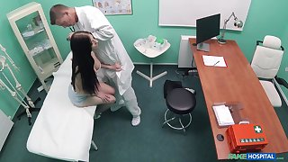 Naked patient hard fucked by the physician and taped secret