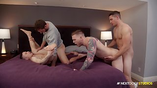 Naked men share their lust for anal in a gay special
