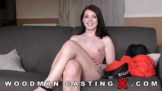 Woodman Casting with sexy girl hard sex video