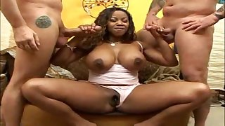 Sexy black Satisfies All Cummers in spunk porn