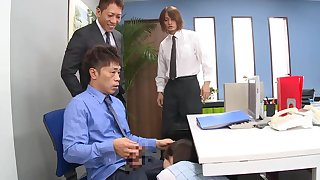 Hard sex down at the office with the mature secretary