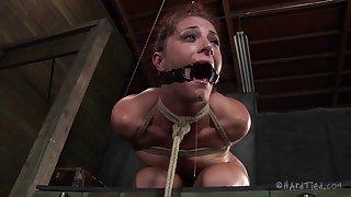 Rough torture session for adorable redhead slave CiCi Rhodes