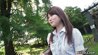 Attractive Japanese bird Kazumi Saijo definitely loves soon she is fucked doggy