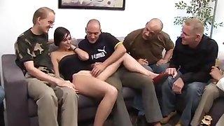 Silvia Rubi - Spanish Girl + German Males Gangbang