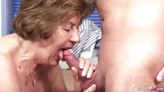 German Vintage Granny Seduce To Make Love By - housewife