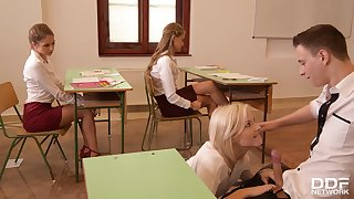 Filthy Group Sex With The Classroom