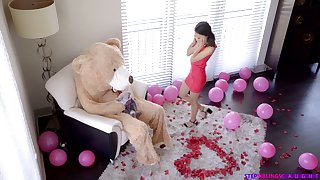 Dude in teddy obey gadgetry fucks tempting girlfriend Jasmine Superannuated