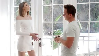 Cute leggy girlfriend Lena Anderson gives habitual user right before good mish