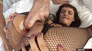 Skinny Slut Anal Gaped Together with Fisted