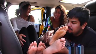Outside Girl/Girl/Guy - Foot Worship #2