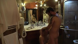 Mature daughter fucked after shower with reference to front be advisable for the mirror !