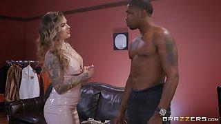 black guy destroys wet Karmen Karma's pussy with his monster dick